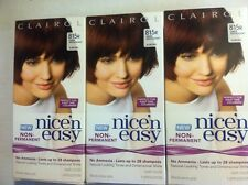 (3) Clairol Nice'n Easy Hair Color - Deep Mahogany Auburn/815R Like Loving Care