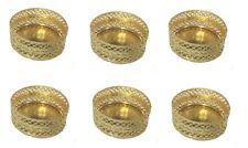 6 Gold Tea Light Holders -  Diwali, Christmas, Parties -  Indian - Mesh Design