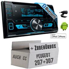 Peugeot 207 307 Kenwood Bluetooth USB Autoradio 12V Einbauset KFZ Auto Radio PKW