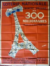"""Vintage French """"Loterie Nationale"""" Poster"""