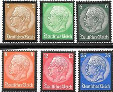 Germany 3rd Reich Mi# 548-553 Hindenburg Memorial 1934 MH *