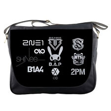 "Kpop Shinee BAP Big Bang Logo TV School Textbook Notebook 14"" Messenger Bag"