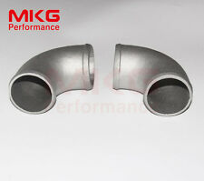 """Aluminum Joiner Cast 76mm 3"""" 90 Degree Elbow Turbo Intercooler Pipe Piping 2pcs"""