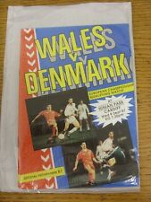 09/09/1987 Wales v Denmark [At Cardiff City] . Unless stated previously in the d