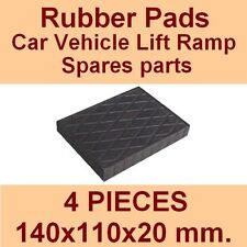 Universal Scissor Lift Pads - H20 - Ramp Rubber Blocks - Made in Italy