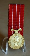 Canada Canadian Decoration CD Queen Elizabeth II  Miniature Medal Court Mounted