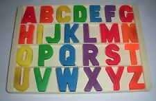Vintage Fisher Price Little People School House Tray of Magnet Alphabet Letters