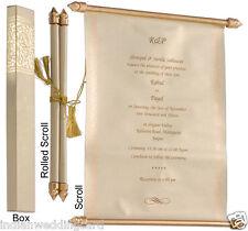 scroll wedding invitation,  wedding scrolls,  S898