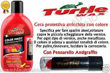 TURTLE WAX COLOR MAGIC CERA PROTETTIVA AUTO ROSSO PER CAR ALONI STRIATURE 500ml