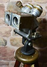WW2 ex-battleship gunners binocular target sight, period stand. Ottway/London