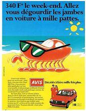 Publicité Advertising 1984 Location de voitures Avis