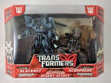 Transformers DESERT ATTACK Movie 2007 Blackout Scorponok New Voyager Hasbro