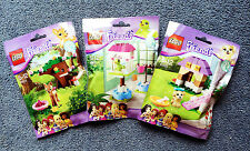 Lego Friends Animals Complete Series 3, 41023 Fawn, 41024 Parrot, 41025 Puppy