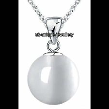 Moonstone Necklace Silver Ball Moon Pendant Gifts For Her Girlfriend Wife Women