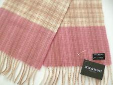 Lyle & Scott et beige crème écharpe Dames Rose vérifié pour Femme laine laine
