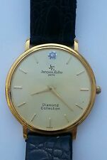 Very Fine 18K - Gold Plated - Jacques Edho - Men's Diamond Collection Watch...!!