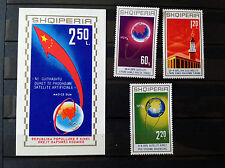 Stamps Albania R.P.E. Shqiperis 1971 1st Chinese satellite 1 S/S 3 Stamps