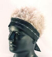 BANDANA HAT WITH SPIKED UP BLONDE HAIR billy bob cap funny MENS WOMENS fake wig