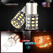 2 800lm Xenon White AX-2835 1156 1073 LED Turn Signal Light bulb For Benz Subaru