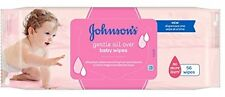 New Johnson's Gentle All Over Baby Wipes Total 672 Wipes - Pack of 12