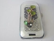iPhone 4 iPhone 4S Hard Cover Clear case 3D Bling Flower New