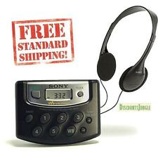 Sony SRF-M37W Walkman Weather/FM/AM Stereo Digital Tuning Radio Black SRFM37W