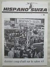 REVUE HISPANO-SUIZA 1965 N°15 SALON AERONAUTIQUE CARAVELLE UNITED FESTIVAL FILM