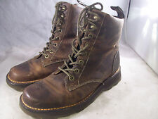 DR. MARTENS MENS NIEL 8-EYE BOOTS TAN GREENLAND LEATHER 10 MEDIUM 9 UK $120