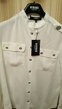 Ladies White Versace Military Blouse/Shirt Size 10 Brand New With Tags RRP £255