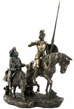"13.75"" Don Quixote de la Mancha & Sancho Panza Statue Riding Horse Spain"