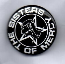 THE SISTERS OF MERCY BUTTON BADGE British Gothic Rock Band - Floodland 25mm Pin