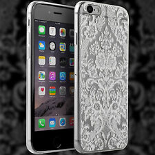 Floral Henna Design White Clear Gel Silicone Soft TPU iPhone 6 6s Case Cover B1