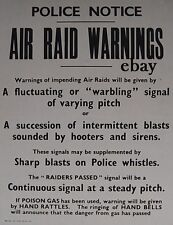 WW2 AIR RAID PRECAUTIONS BLITZ WARDEN ARP   NEW A4 PRINT