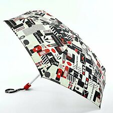 Lulu Guinness by Fulton Ladies Tiny-2  Designer Umbrella London Print