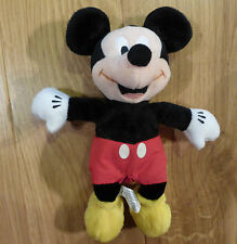 "Preloved Adorable Cuddly Toy / Beanie Classic Mickey Mouse Beanie (approx 9"")"