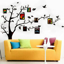 Photo Frame Wall Sticker Removable Black Tree Vinyl Decal Home Decor