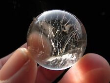 silver straight rutilated!! natural transparent quartz crystal sphere ball+stand