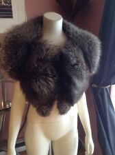 Real silver  Fox Fur Collar Detachable made in the USA genuine