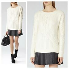 NWT Reiss Maia Cable Knit Jumper Sweater Off White Ivory S $240 MSRP