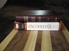 1998 Burgundy Leather Oxford New Scofield NIV Study Reference Bible [ 1967 1984