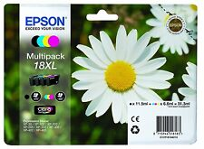 EPSON ORIGINAL 18XL DAISY MULTIPACK INKS T1801 T1802 T1803 T1804  XP 102 205 305