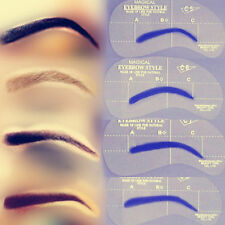 24 Eyebrow Shaping Stencils Kit Brow Makeup Set Grooming Template Reusable AA78
