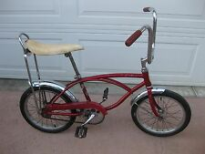 "SCHWINN MIDGET STING RAY 16"" PIXIE RED OG CHICAGO USA RUN A BOUT"