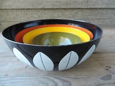 Catherineholm Lotus Nesting Bowls Vintage Norway MCM Enamel Mixing Bowl Set