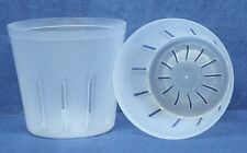 Clear Plastic Pot for Orchids 3 inch Diameter - Quantity 2
