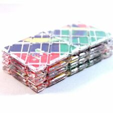 LingAo Mini 8 Panels 3 Rings Folding Puzzle Magic Cube Twisty Rainbow