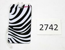 Pair of Smooth Trip Luggage Tag with info sleeve, Zebra print (ST-LT-6006-ZEB)