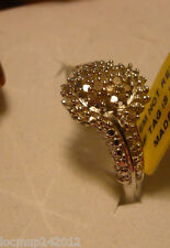 Diamond Right Hand Ring Sz. 8  32 diamonds .28tcw MSRP $614