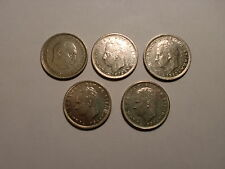 "- SPAIN - 5  OLD  'PRE  EURO'  "" 5 PESETA ""  COINS - SOME RARE - 1957-1989# 5BK5"