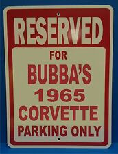"""Personalize Chevrolet Corvette Novelty Reserved Parking Street Sign 9""""X12"""""""